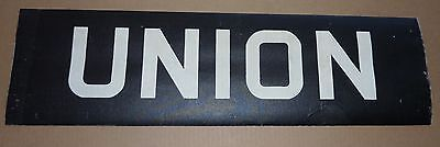 1940's Antique New York City Subway Trolley Destintion Roll Sign UNION