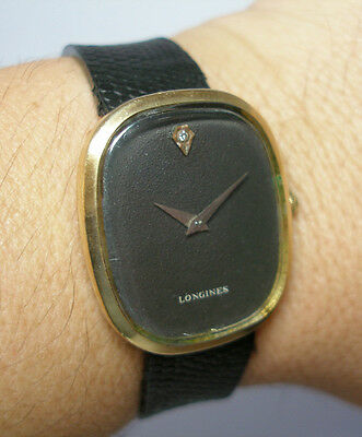 Vintage 1960's Longines Museum Dial 10KT Gold-filled Leather Mechanical Watch