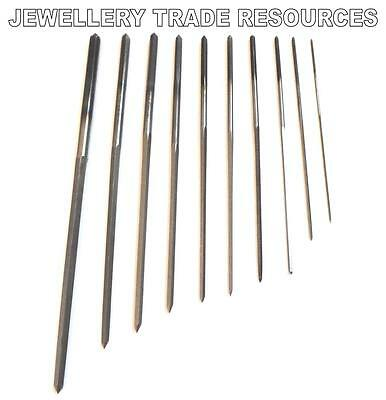 SET OF 10 CLOCK CUTTING BROACHES SET 0.9mm - 4mm FOR BUSHING ,SERVICE & REPAIRS