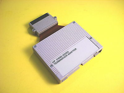 Agilent HP Keysight 01650-63203 100 kOhm Termination Adapter and Operating Notes