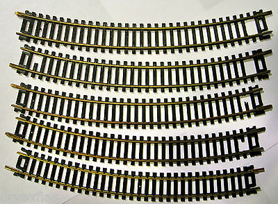 Vintage Made in Italy 18 Inch Radius Track Brass HO Scale RARE LOT 5