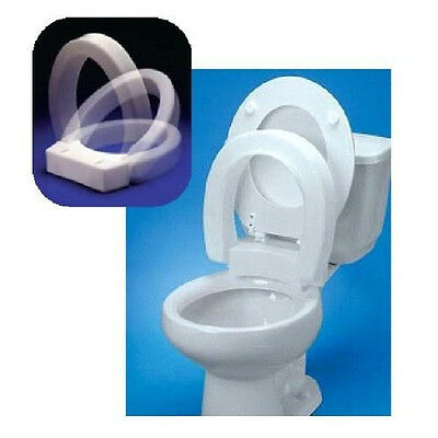 Hinged Raised Enlongated Elevated Toilet Seat