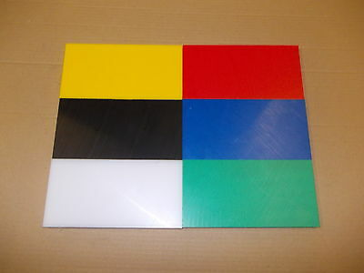 10 mm HDPE Sheet 500 GRADE 200 mm x  200 mm Food preparation-Filleting board etc