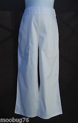 Nwt Size 14 16 18 Maternity Pregnancy White Cotton Work Pants Trousers Jeans