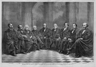 Supreme Court Of The United States, Chief Justice And Associate Justices Of 1868