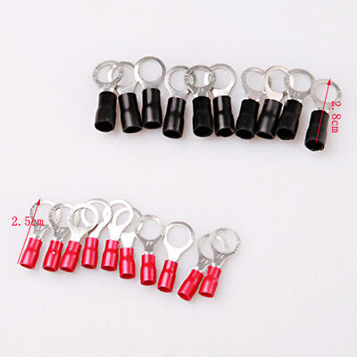 20pcs Insulated Ring Crimp Connector Terminals Electrical Cable Wiring