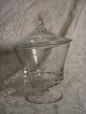 House of Representatives USA Fostoria Century Glass Candy Dish Signed T Coelho