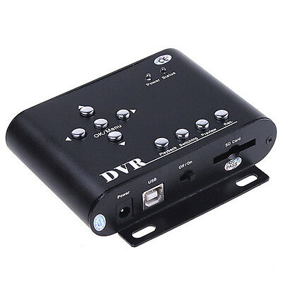 2CH 2 CH Mini DVR Video/Audio CCTV Recorder SD Car Security motion detection New