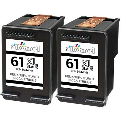 2-pk #61 XL Black Ink Cartridges For HP ENVY 4500 4501 4502 4504 5530 5531 5535