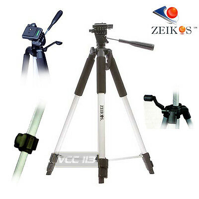 "57"" PRO Tripod 3 Way Pan Head W/ Bubble Level For Digital SLR Camera / Camcorder"