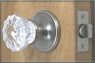 Finest Fluted 12point Crystal Passage Knob Set Complete- FLAT RATE S/H ANYWHERE