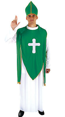 St Patrick's Fancy Dress Outfit Ireland Irish Pope Day Religious Priest Costume