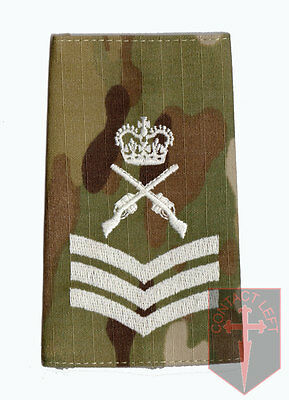 Pair C/SGT MULTICAM MTP Rank Slides Colour Sergeant (Skill At Arms Instructor