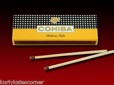 3  BOX's OF LIMITED EDITION  COHIBA WOODEN CIGAR MATCHES