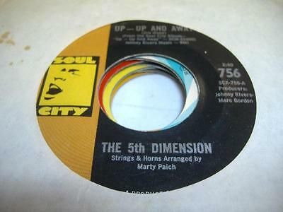Rock 45 THE 5TH DIMENSION Up - Up and Away on Soul City