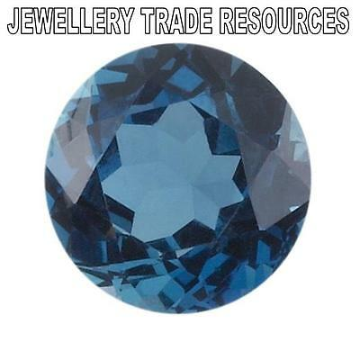 12mm ROUND NATURAL LONDON BLUE TOPAZ GEM GEMSTONE