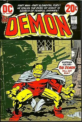 Demon 9 Production Art APPROVAL COVER PROOF Jack Kirby Etrigan 1973 DC NOT REPRO