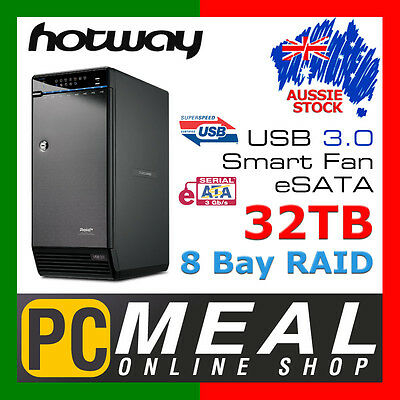 Hotway 32TB 8 Bay RAID Storage System USB3.0 eSATA Enclosure External Hard Drive