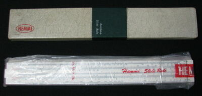 VINTAGE JAPANESE SLIDE RULE BAMBOO HEMMI SUN JAPAN No.130 ORIGINAL HOLDER SEE >>