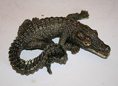 Floating Curled Baby Alligator for Garden Pond or Aquarium, a Useful Present