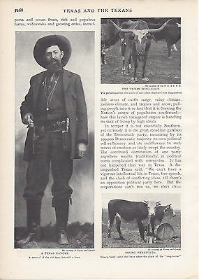 1906  Texas and the Texans vintage magazine article