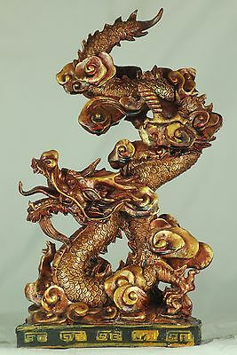 Red/Gold Chinese Dragon - Gift, Celebrations, Chinese New Year, Feng Shui, Lucky