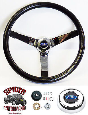 "1970-1977 Ford pickup steering wheel BLUE OVAL 14 3/4"" VINTAGE Grant"
