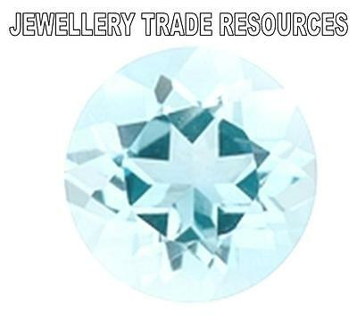 "NATURAL AQUAMARINE B 2.75mm ROUND CUT GEM GEMSTONE ""B"" GRADE"