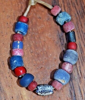 Ancient Glass Excavated Djenne Dig Beads Mali African Trade Circa 1000 Years Old