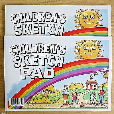 2 x NEW - CHILDRENS A4 SKETCH PADS - Drawing Artist Art Sketching Paper Pad Book