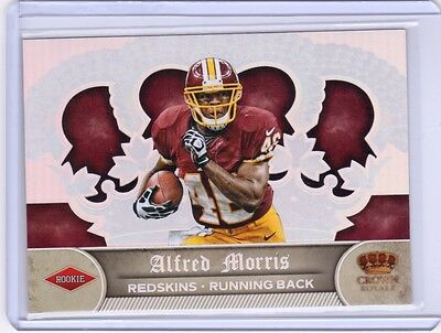 2012 Panini Crown Royale Silver Uncut Die Cut #151 Alfred Morris RC SP ONLY 5