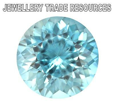 "NATURAL AQUAMARINE AAA 7.5mm ROUND CUT GEM GEMSTONE ""AAA"" GRADE"