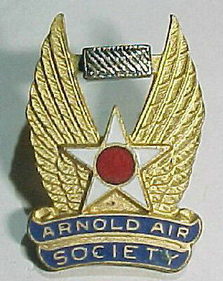"""50s 60s """"Arnold Air Society""""  Wing Aviation Pin - N.S. Meyer"""