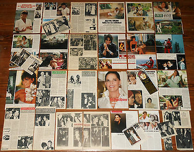 ALI MACGRAW 1970s/00s spanish clippings photos vintage magazine Love Story