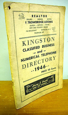 1946 KINGSTON NY Classified Business & Numerical Telephone Directory