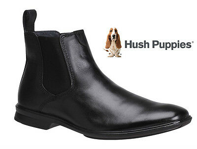 Hush Puppies Chelsea Mens Leather Boots/shoes/casual/comfort Wide Fit Boots