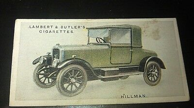 1923 HILLMAN Coupe  Lambert & Butler UK Cigarette Card