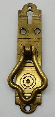Antique / Vintage Brass Drawer or Cabinet Door Pull with Key Escutcheon