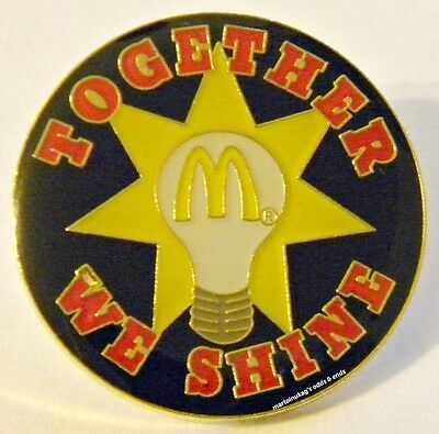 New In Package McDonalds Together We Shine Lapel Pin. FAST SHIPPING!