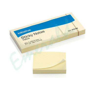"""1200 Remove Sticky Post It Notes 38mm x 51mm 1.5"""" x 2"""" (12 packs of 100)"""