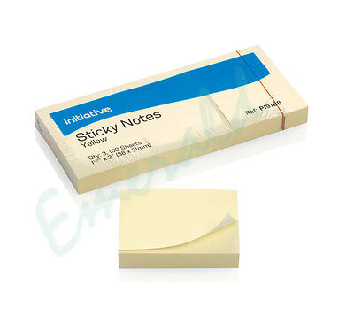 "1200 Remove Sticky Post Notes 38mm x 51mm 1.5"" x 2"" (12 packs of 100)"
