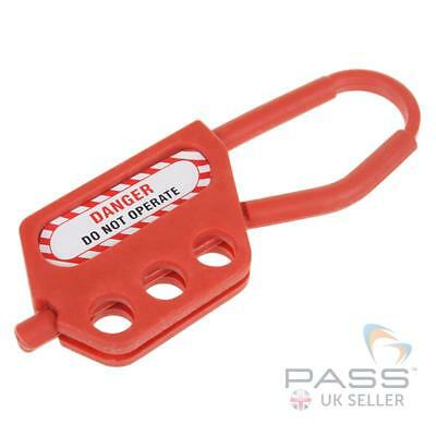 Lockout Tagout Non Conductive Nylon Hasp - 3 Holes, 6 mm Shackle, 45 mm Thicknes