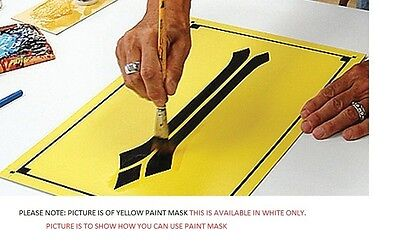 """24"""" x 50yd WHITE AVERY PAINT MASK sign vinyl LOOK"""