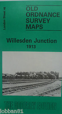 OLD Ordnance Survey Maps Willesden Junction near Acton London 1913 Sheet 46