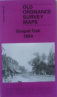 OLD Ordnance Survey Maps Gospel Oak  London 1894 Sheet 28 Godfrey Edition New
