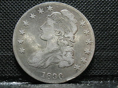 1836 Capped Bust Half Dollar-Decent Speciman- Free Shipping!!