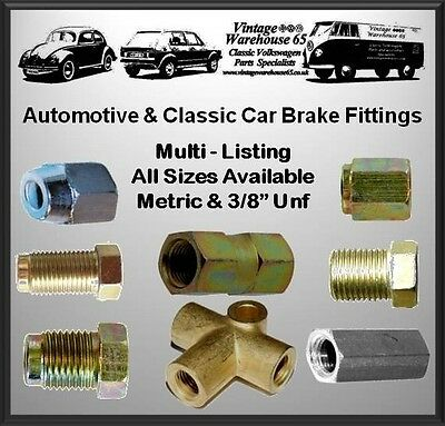 """Copper Brake Pipe Ends Unions Fittings All Sizes For Cars Metric & 3/8"""" Unf"""