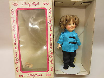 """Shirley Temple Doll Ideal 8"""" Stowaway with Box, Stand, Hairnet 1982"""