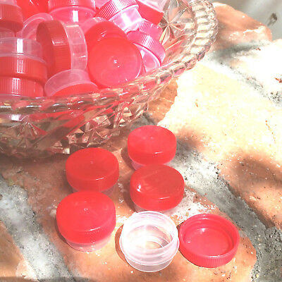 50 RED Cap JARS container Used for Hummingbird feeders 1 tsp 1/4 oz USA  #3301