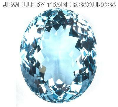 "NATURAL AQUAMARINE AAA 5mm x 4mm OVAL CUT GEM GEMSTONE ""AAA"" GRADE"